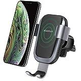 Caricatore Wireless Auto,Steanum Ricarica Rapida Wireless Auto Vento Supporto Telefono per iPhone Xs/Xr/X/8/8Plus,Samsung Note 5/8, Galaxy S9/S8//S7/S6 Edge+