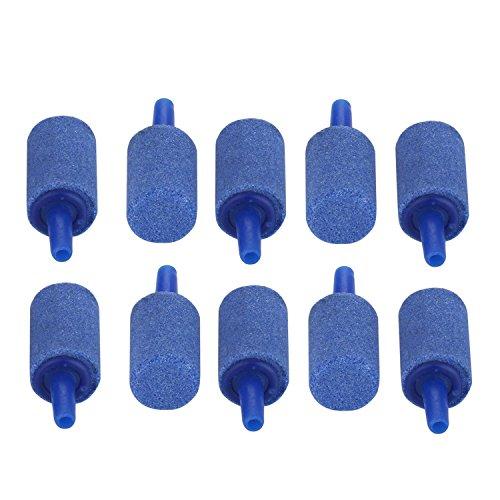 niceEshop(TM) Mineral Luft Stein Blase Mitteilung Aquarium Luft Stein Pumpe in Zylinderform für Aquarium / Fish Tank 10 Stück (Blau)