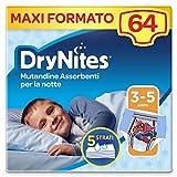 Drynites Mutandine Assorbenti per la Notte per Bambino, 16-23 Kg, 4 Pacchi da 16 Pezzi