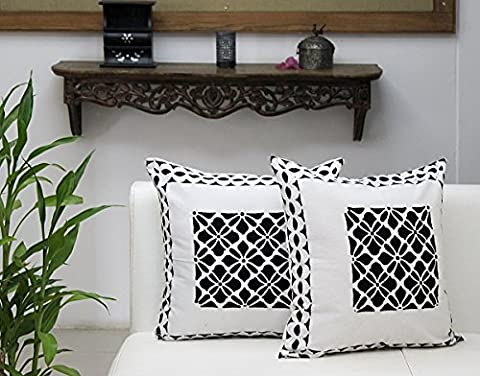 Throw Pillowcase Cushion Covers for Sofa Exclusive Set Of 2