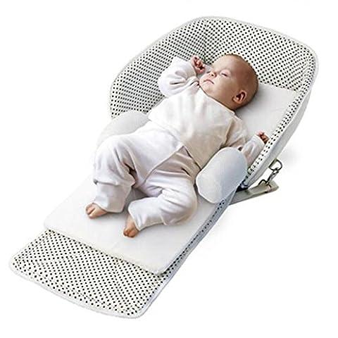 Multi-Funktions-portable Krippe Klappbett Baby-Sicherheit Dunkelblau Wiege (Pferd Neugeborene Krippe)