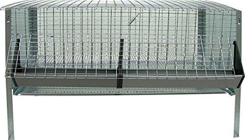 Gardenzooshop - gabbia per pulcini e polli pieghevole - 100x40x35h made in italy
