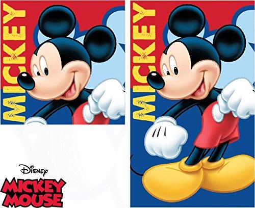 MarvelSpiderman 2 tgl Handtuch Set - Disney Mickey Mouse - Handtuch/Gesichtstuch und Waschlappen