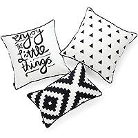 Hofdeco - Juego de 3 fundas de almohada decorativas y lumbares para interiores y exteriores,