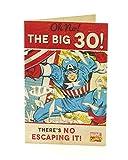 Hanson weiß 345823–0Marvel Avengers Captain America 30. Geburtstag Karte