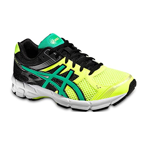 Asics Gel Pulse 7 GS Flash Yellow Peacock Green Black 35