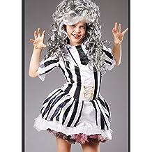 Beetlejuice niño traje de niña con peluca Large ...