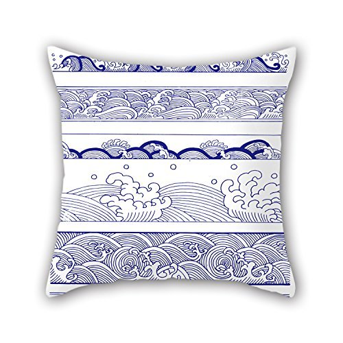 beautifulseason 20 X 20 Inches/50 by 50 cm Chinese Style Blue and White Porcelain Christmas Pillow Cases Double Sides is Fit for Teens Girls Car Kids Husband Bedroom Kids Room -