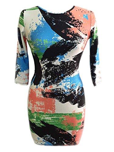 E-Girl SY22459 femme sexy robe bodycon Multicolore