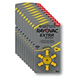 RAYOVAC EXTRA ADVANCED PR70 Zinc Air Hearing Aid Batteries YELLOW TAB Size 10 1.45V VALUE PACK OF 60 BATTERIES