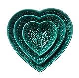 Set von 3Türkisch Keramik Herz Geschirr Schalen Trinkets waagr dourve Oliven Knabbereien
