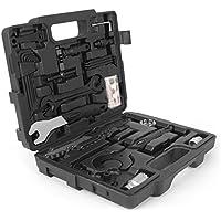 Caisse à outils complète pour vélo Gregster, outils pour vélo et caisse en plastique noire pour l'entretien et la réparation des vélos, kit d'outils de 26 pièces