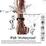 CHEREEKI Fitness Armband, Wasserdicht IP68 Fitness Tracker mit Pulsmesser Farbbildschirm Fitness Uhr Aktivitätstracker Schrittzähler Uhr Smartwatch SMS Anruf Beachten für Damen Herren (Schwarz) - 6