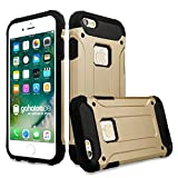 gahatoo iPhone 6/6 s Outdoor Case Hülle Ultra Slim [Hybrid TPU Silikon Hardcase] Handyhülle in Gold [Tactical Military Defender]