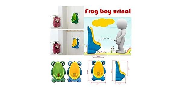 BLEU Urinoir Enfant Urinoir Gar/çons portable pot Toilette pisser formateur motif grenouille mignonne apprentissage de la propret/é des toilettes b/éb/é avec toilette debout