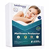 Safedreamz Waterproof Mattress Protector - Comfortable with No Noise While You're Sleeping - Keeps Your Mattress Dry from Spills, Stains - European Hypoallergenic Materials - Lifetime Warranty