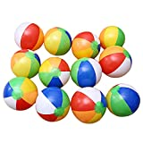 Leoie 12 PCs Inflatable Beach Balls 6-Color Traditional Pool Party Toys Birthday Favors