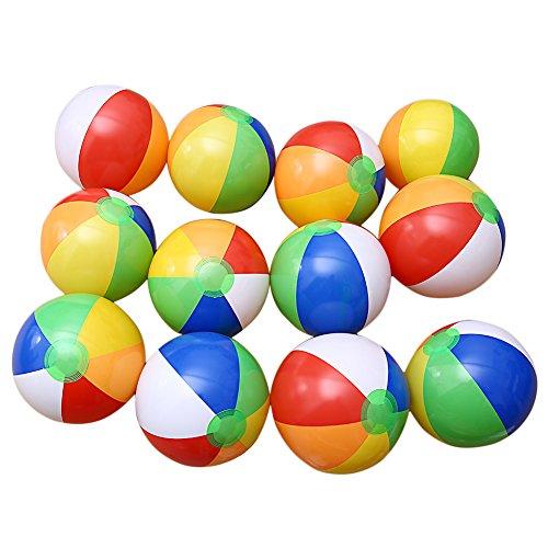 bare 6 Farbe Traditionellen Beach Balls Pool Party Spielzeug Geburtstagsbevorzugungen (Große Aufblasbare Beach Ball)