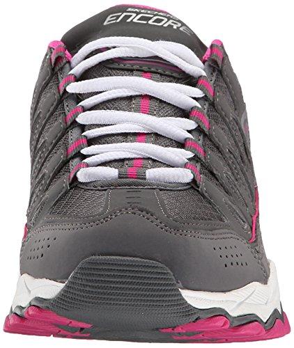 Skechers - Encorebe Seen, Sneaker Donna Grigio (Grau (Ccpk))