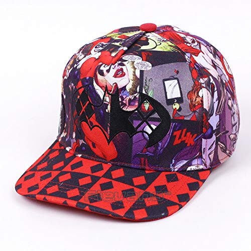 Harley Quinn Hut - WYKDA Unisex Mode Lässig Baseball Hüte