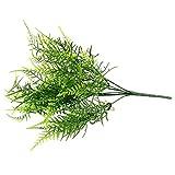 MingXiao 7 Rami plastica Artificiale asparagi Felce Decor Erba pianta Fiore Bonsai