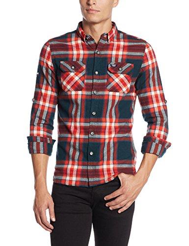 Superdry Refined Lumberjack Shirt, Chemise Homme bleu (Uprising Navy CheckXGU)