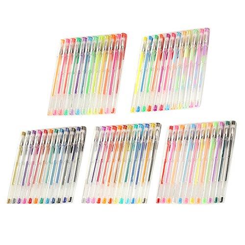 Comprar 60PS multicolor Glitter plumas de gel para niños adultos ...