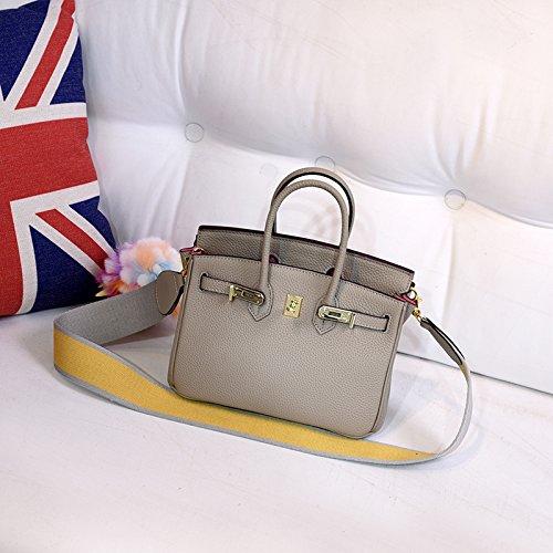 GUNAINDMX Handtaschen Litchi Pattern Platinum Taschen Damentaschen Handtaschen Messenger Bags Schultertaschen,Elektro-Optik blau 30G