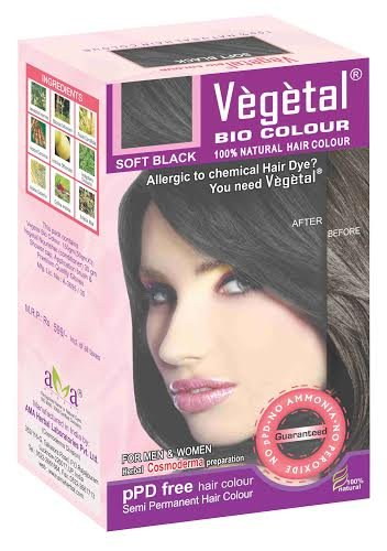 Vegetal bio colour - Soft Black 50 gm x 3