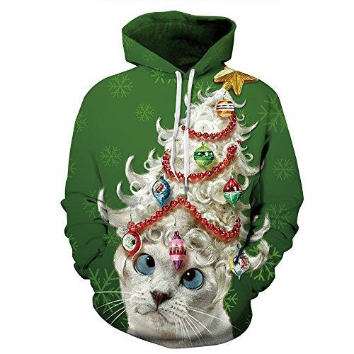 Weihnachten Erwachsene Sweatshirt (JYSPORT Einhorn Jacke Anime Costumes Cosplay Coat Damen Hoody Plush Animal Sweatshirt Oberbekleidung (qydm172, L/XL))