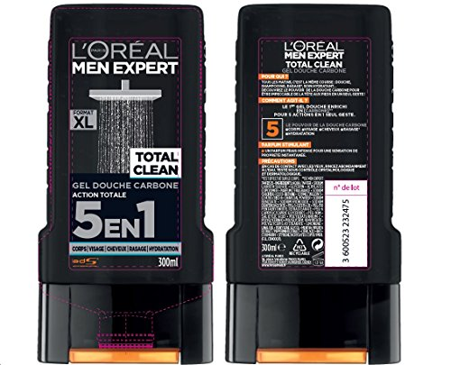 L Oréal Men Expert Total Clean Gel de Ducha 5 en 1 Men 300 ml   juego de 3