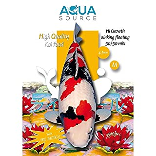 Aqua Source Hi Growth Sinking/Floating 50/50 Mix Koi Food 3kg