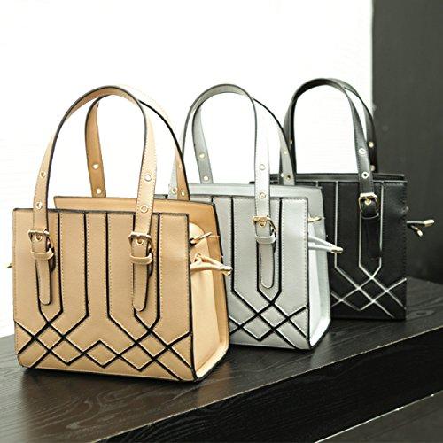 RAN Frau Fashion Minimalistische Schultertasche Messenger Bag Gray
