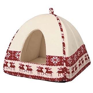 trixie xmas santa cozy dog shelter red/cream 38 × 35 × 38 cm Trixie Xmas Santa Cozy Dog Shelter Red/Cream 38 × 35 × 38 cm 51SdhC 2BYl1L