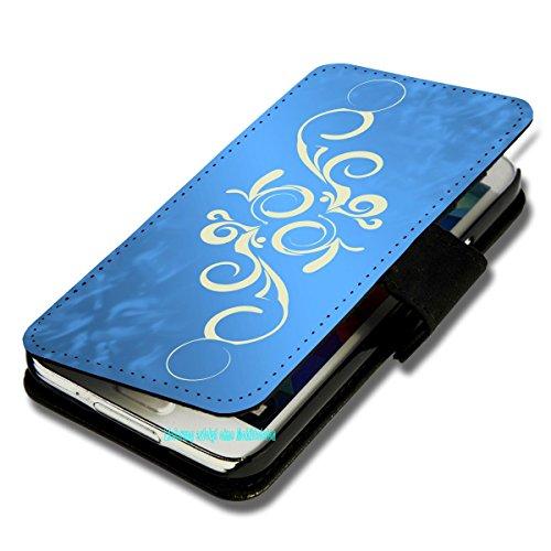 Book Style Handy Tasche - Design F165 - für HTC Desire 310 - Cover Case Schutz Hülle Etui Schutzhülle - (Bulk)