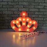 3D Lovely Crown Table Light Warm White Shine LED Night Lamp for Children Gift Desk Bedside Indoor Decorations-Pink