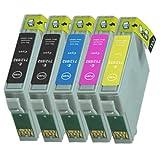 5 Druckerpatronen Tinte für Epson Stylus D78 D92 DX4400 ersetzen T0711 T0712 T0712 T0713 T0715