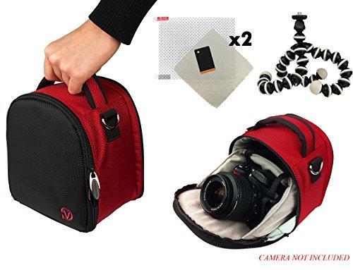 Laurel Travel Camera Bag Case For Canon EOS 1000D Rebel XS Kiss F 100D Rebel SL1 10D 1100D Rebel T3 Kiss X50 DSLR Camera Screen Protector Screen Protector Mini Tripod R