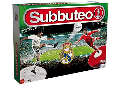 Subbuteo- Playset Real Madrid Edizione 2018/19, Colore Bianco, 11060