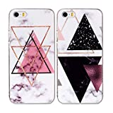 Misstars 2X Coque en Silicone pour iPhone 5C Marbre, Ultra Mince TPU Souple Flexible...