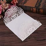 Runrain 10pcs Kit de mariage Cartes d'invitation avec enveloppes joints personnalisé d'impression