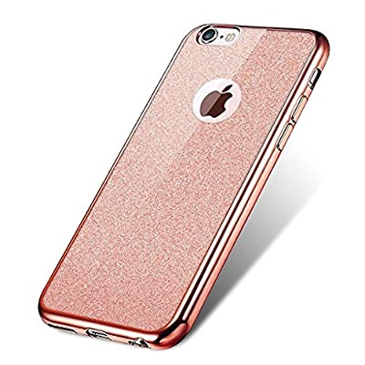 Visibee - iPhone SE iPhone 6 6s Case, Bling Glitter Detachable Ultra-Thin Electroplating Technology Soft Gel TPU Silicone Case