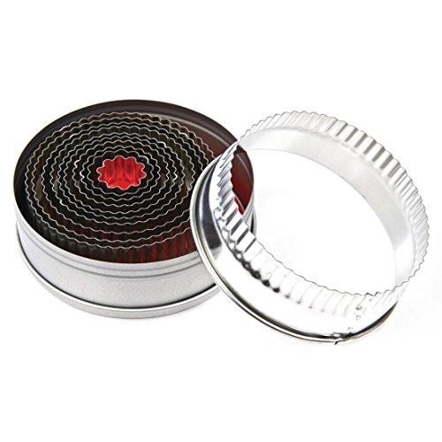 Fluted Pastry Cutter (Vogue E019rund aus Ausstecher, Set 10,2cm (11Stück))