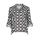 TianWlio Damen Langarmshirt Bluse T-Shirt Tops Frauen Winter V-Ausschnitt mit Langen Ärmeln Geometrie Druck Plus Größe Tops lose Bluse