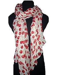 Creamy white cherry scarf Lovely soft scarf