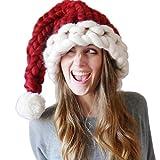 Weihnachtsmütze Erwachsene Nikolausmütze Weihnachts Weihnachtsmann Mütze Rot