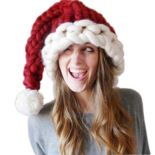Weihnachtsmütze Erwachsene Nikolausmütze Weihnachts Weihnachtsmann Mütze -