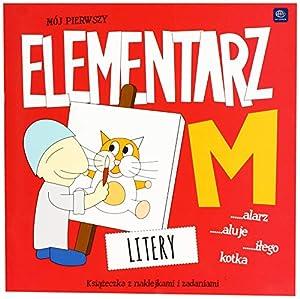 Interdruk MA21X21ELLIT - Libro para Colorear (21 x 21 cm, 32 Pegatinas My First ABC, Letras