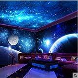 AZZJ AZZJObergrenze Obergrenze Tapete 3D - Star Wallpaper Wallpaper Im Schlafzimmer Aus,Nonwoven - Stoff
