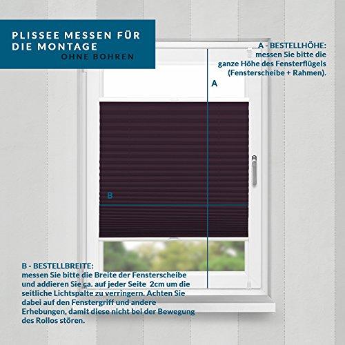 Plissee Bordeauxrot HOME-VISION - 6